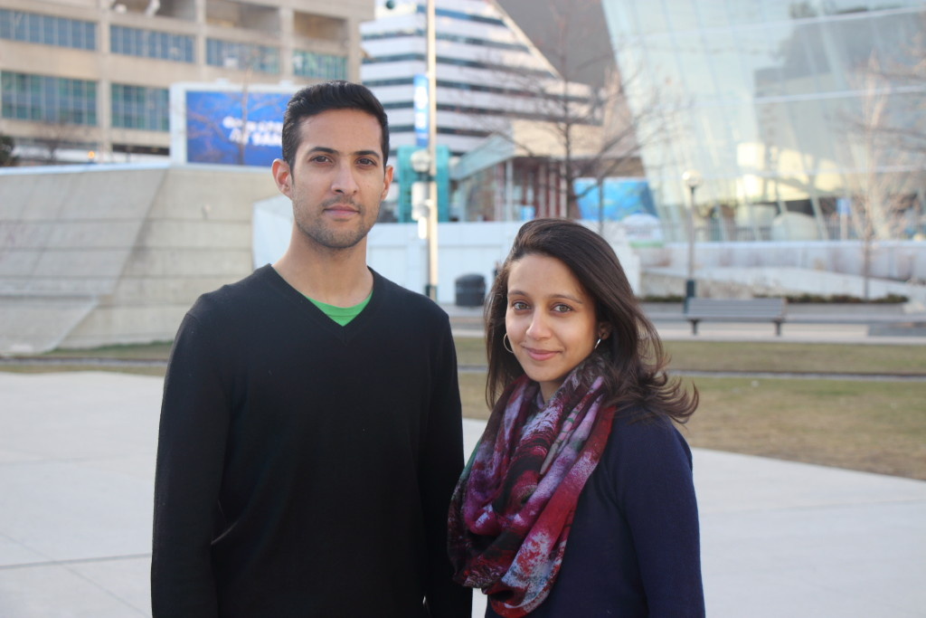 Change-makers Zaki and Syeda Patel photographed here in downtown Toronto. Photo credit: Taabish Hasan.