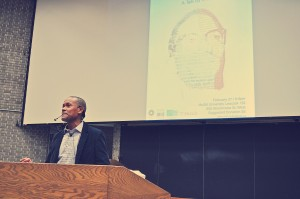 Imam Yasin Dwyer addresses attendees on Malcolm X's legacy - Photo by Oubai Elkerdi