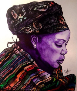 Portrait of Nobel Peace Prize Winner - Leymah Gbowee