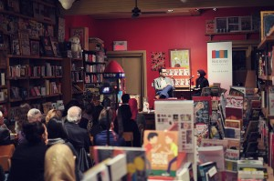 Monia Mazigh speaks during the Montreal launch of Mirrors and Mirages - Photo by Oubai Elkerdi