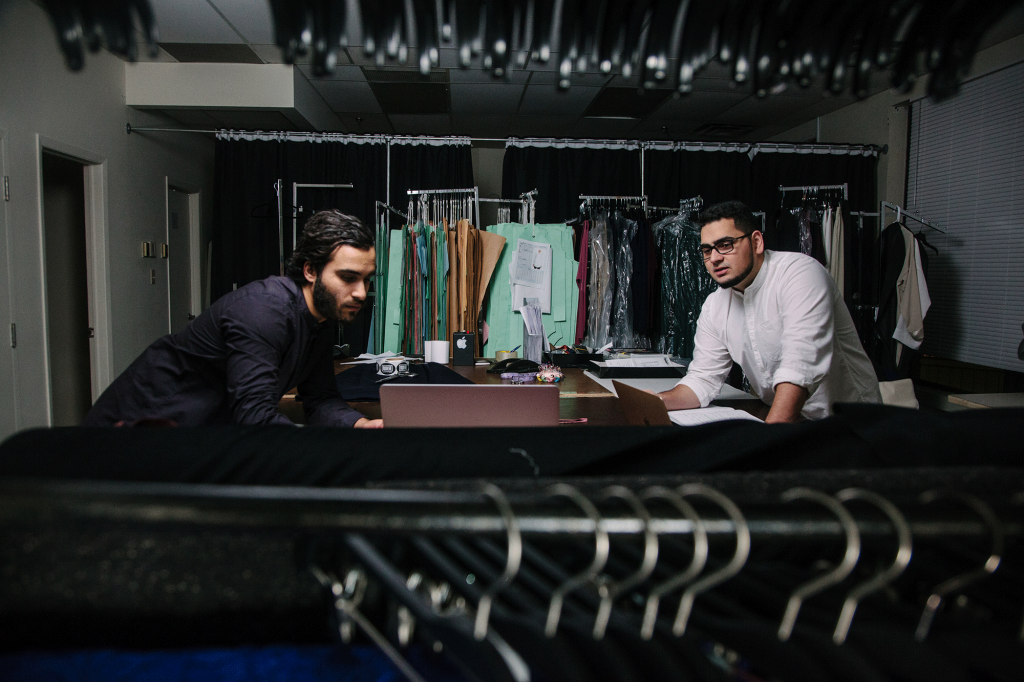 Bilal and Daniel in their Mode-ste studio, Montreal