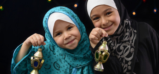Kids celebrating the festivities of Ramadan