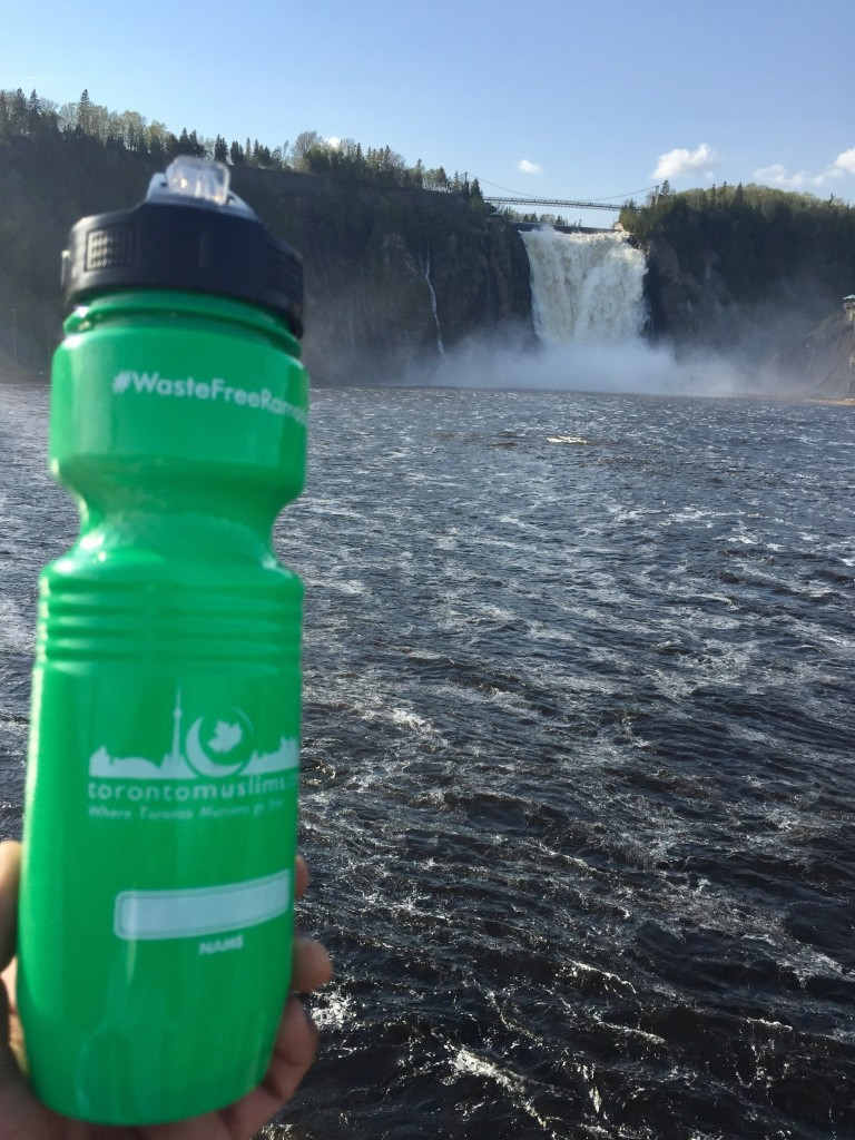 The bottle made its way to Niagara. photo via Toronto Muslims